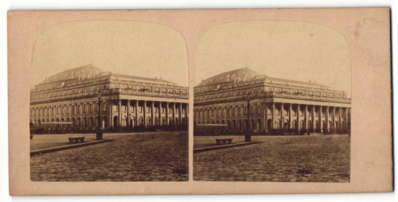 Stereo-Fotografie Ansicht Bordeaux, Grand Théâtre