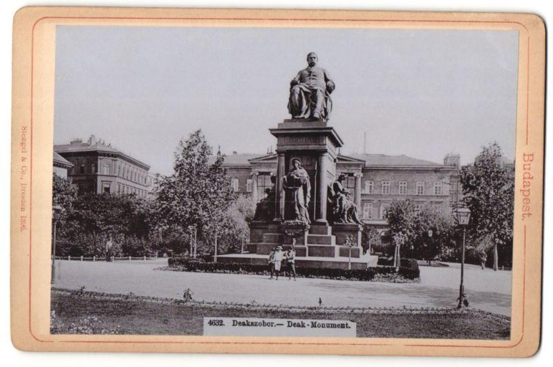Fotografie Stengel & Co., Dresden, Ansicht Budapest, Deak-Monument