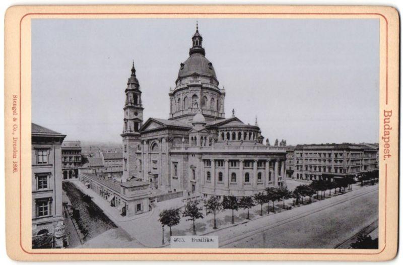 Fotografie Stengel & Co., Dresden, Ansicht Budapest, Basilika