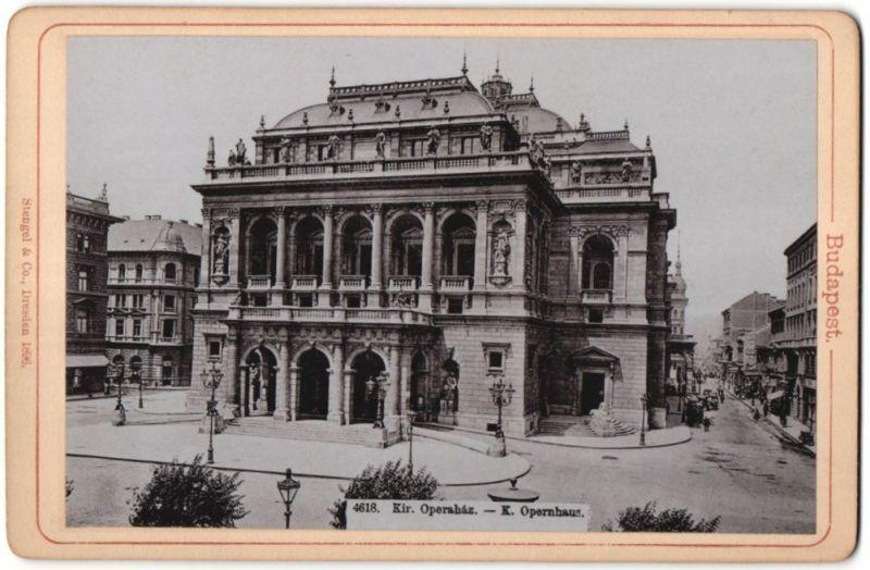 Fotografie Stengel & Co., Dresden, Ansicht Budapest, Opernhaus