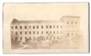 Fotografie Carl Fabricius, Speyer, Ansicht Speyer, Gebäude im Ort