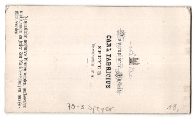 Fotografie Carl Fabricius, Speyer, Ansicht Speyer, Gebäude im Ort 1