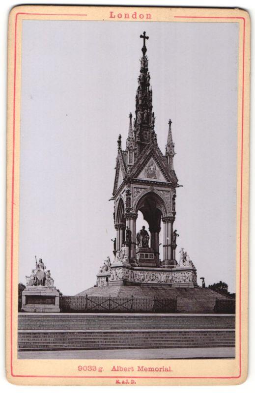 Fotografie Römmler & Jonas, Dresden, Ansicht London, Albert Memorial