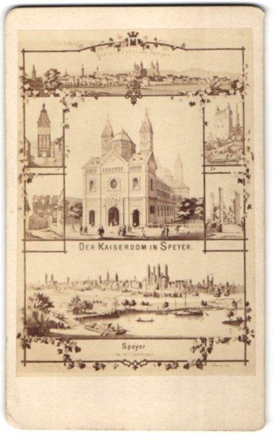 Fotografie L. Kissler, Speyer, Ansicht Speyer, der Kaiserdom und weitere Motive