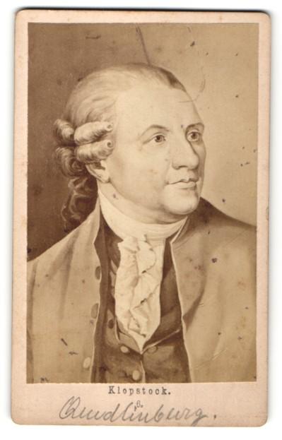 Fotografie Portrait Klopstock, Deutscher Dichter