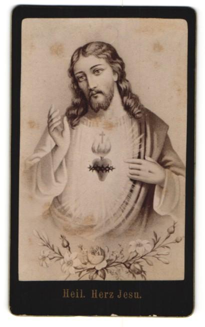 Fotografie Gemälde von unbek. Künstler, Heiliges Herz Jesu 0