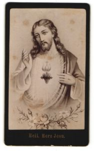 Fotografie Gemälde von unbek. Künstler, Heiliges Herz Jesu