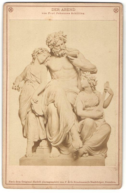 Fotografie F. & O. Brockmann`s Nachfolger, Dresden, Figurengruppe von Prof. Joh. Schilling, Der Abend, Allegorie 0