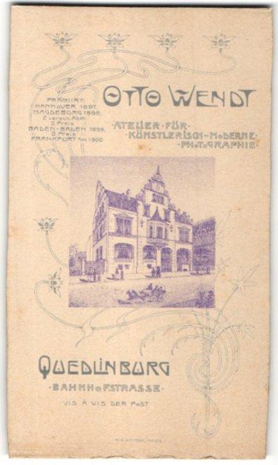 fotografie otto wendt quedlinburg r ckseitige ansicht quedlinburg atelier bahnhofstrasse. Black Bedroom Furniture Sets. Home Design Ideas
