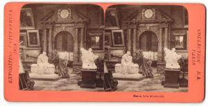 Stereo-Fotografie B. K. Paris, Ausstellung Paris, Exposition Universelle 1878, Beaux Arts Allemands, Deutsche Kunst
