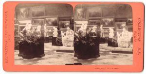 Stereo-Fotografie B. K. Paris, Ausstellung Paris, Exposition Universelle 1878, Beaux Arts Allemands, Figuren, Bildhauere