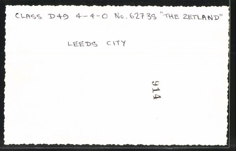 Fotografie Eisenbahn England, Dampflok Nr. 62738 The Zetland in Leeds City 1