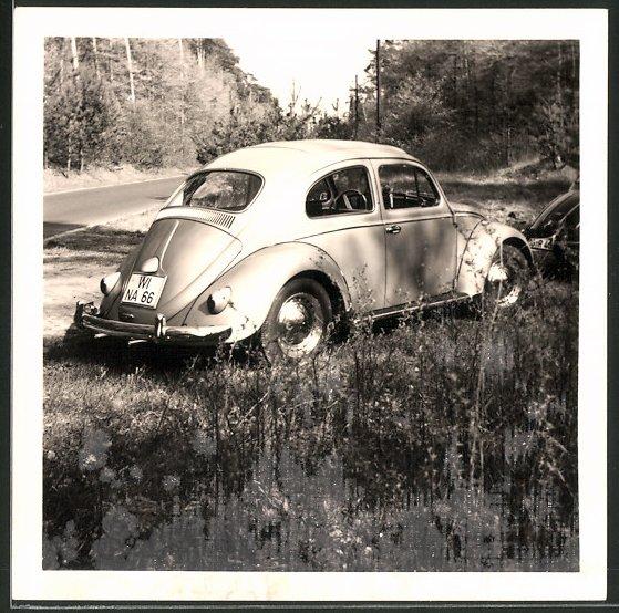 Fotografie Auto VW Käfer, Volkswagen PKW mit Faltdach 0