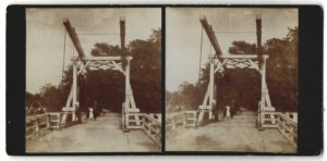 Stereo-Fotografie Fotograf unbekannt, Ansicht Bindow, Partie an der Zugbrücke