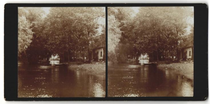 Stereo-Fotografie Dorf im Spreewald 0