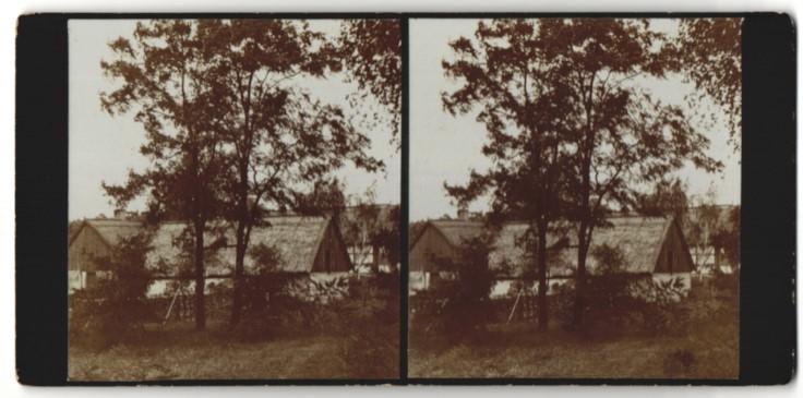 Stereo-Fotografie Fotograf unbekannt, Ansicht Wilhelmsaue / Spree, Gebäudeansicht