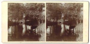 Stereo-Fotografie Fotograf unbekannt, Ansicht Bindow, Flusslauf mit Brücke