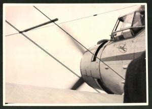 Fotografie Flugzeug Antonov AN-2, Doppeldecker der Interflug, Kennung DM-SKC, Detailaufnahme