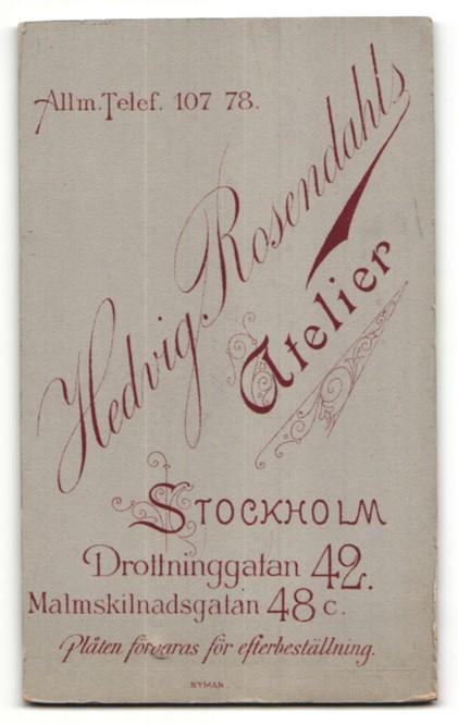 Fotografie Hedvig Rosendahl, Stockholm, Portrait zwei junge Damen in Kleidern 1