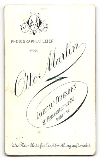 Fotografie Otto Martin, Löbtau-Dresden, Portrait junger Mann mit Krawatte im Anzug 1