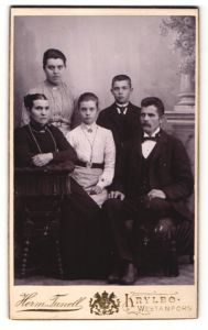 Fotografie Herman Tunell, Krylbo, Porträt einer Familie