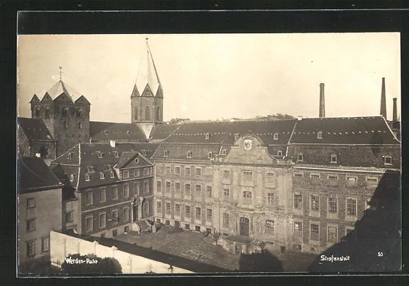 Foto-AK Werden-Ruhr, Strafanstalt