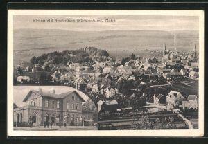 AK Birkenfeld-Neubrücke / Nahe , Panorama und Bahnhof