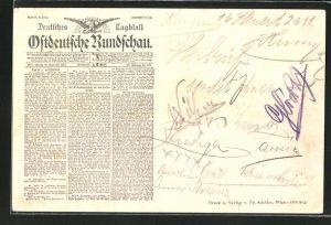 AK Zeitung Deutsches Tagblatt Ostdeutsche Rundschau