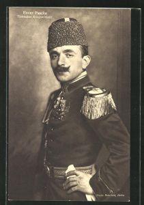 AK Portrait Kriegsminister Enver Pascha der Türkei
