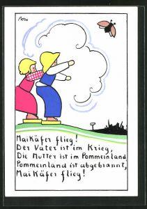 AK Holzspielzeug, Kinder lassen Maikäfer fliegen, Maikäfer flieg!
