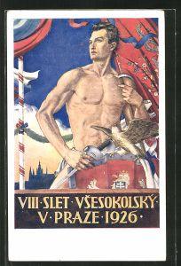 AK Praze, VIII. Slet Vsesokolsky V Praze 1926, Sokol
