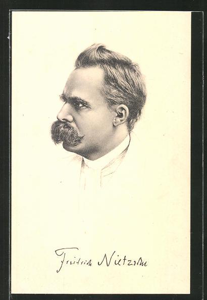 AK Portrait Friedrich Nietzsche im Profil