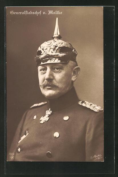 AK Portrait Generalstabschef von Moltke mit Pickelhaube