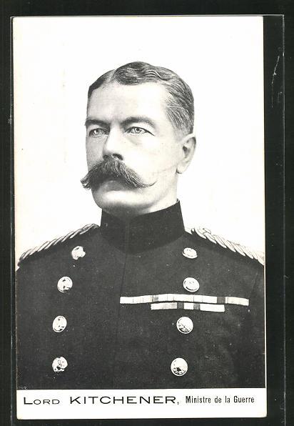 AK Portrait Lord Kitchener, Ministre de la Guerre, Burenkrieg