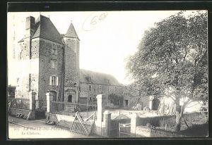 AK La Haye du Puits, Le Chateau, Ansicht vom Schloss