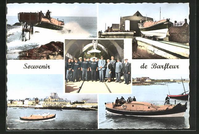 AK Barfleur, Le Lancement du Canot de Sauvetage, Le Canot rentrant de mission La Station, L`Equipage