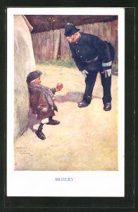 Künstler-AK Lawson Wood: Polizist stellt einen kleinen Dieb