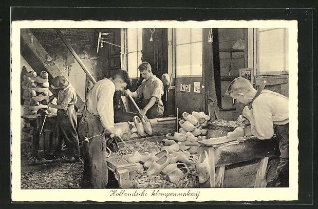AK Hollandsche klompenmakerij, Holzschuhmacher