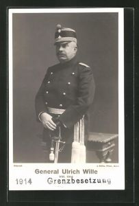 AK Schweizer General Ulrich Wille VIII. in Uniform