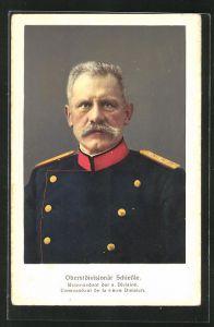 AK Oberstdivisionär Schiessle, Kommandant der 6. Division