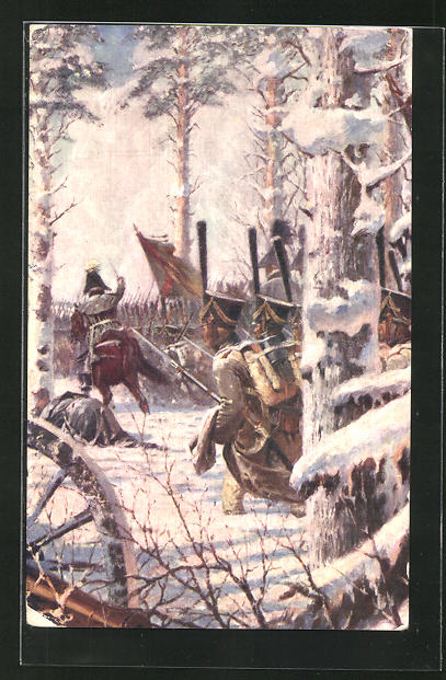 AK Infanterie bei einer Attacke, Befreiungskriege