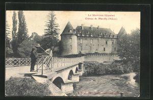 AK Marcilly, Chateau, Blick zum Schloss