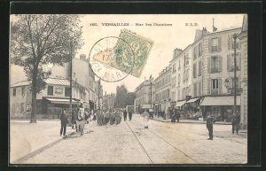 AK Versailles, Rue des Chantiers, Strassenpartie