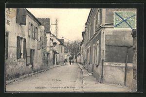 AK Vernouillet, Grand-Rue de la Poste, Strassenpartie