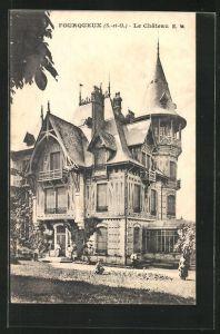 AK Fourqueux, Le Chateau, Ansicht vom Schloss