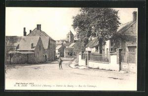 AK Crugny, entree du Bourg, rue du Carrouge