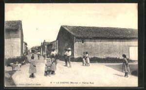 AK La Cheppe, Petite Rue, Strassenpartie