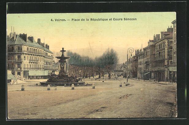 AK Voiron, Place de la Republique et Cours Senozan