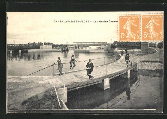 AK Palvas-les-Flots, les Quatre Canaux