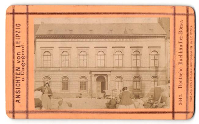 Fotografie Aug. Grossmann, Leipzig, Ansicht Leipzig, Deutsche Buchhändler-Börse